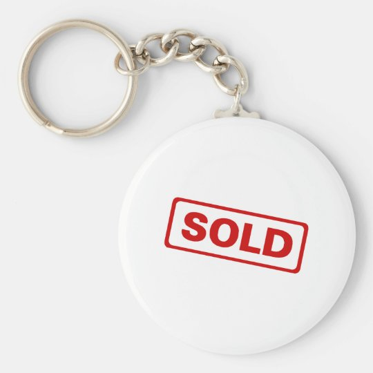 Sold Basic Round Button Key Ring