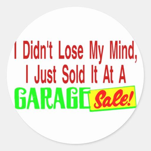 Sold Mind At Garage Sale Stickers