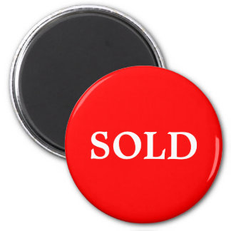 SOLD Real Estate Agent or Retail Sign Marker Red W Magnet