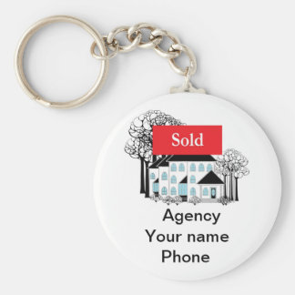 Sold Real Estate Promote Your Business Key Ring