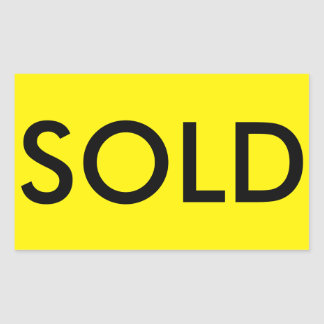 SOLD Real Estate Sticker for Sign