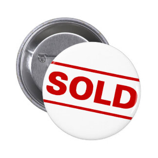 Sold Sign 6 Cm Round Badge