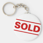 Sold Sign Basic Round Button Key Ring