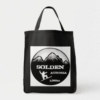 Solden Austria black snowboard art reusable bag