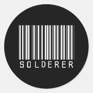 Solderer Bar Code Classic Round Sticker