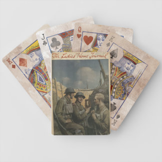 Soldier and Mom Bicycle Playing Cards