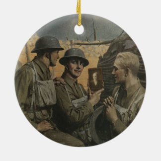 Soldier and Mom Ceramic Ornament