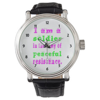Soldier Army of Peaceful Resistance Watch