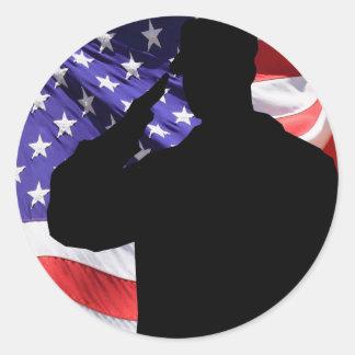 Soldier Classic Round Sticker