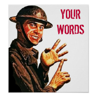 Soldier Counting (Your Words) Poster