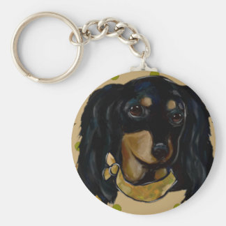 Soldier  Doxie Key Ring