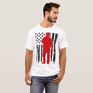 SOLDIER FLAG AMERICAN T-Shirt