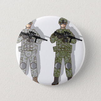 Soldier Full Gear 6 Cm Round Badge