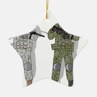 Soldier Full Gear Ceramic Star Decoration