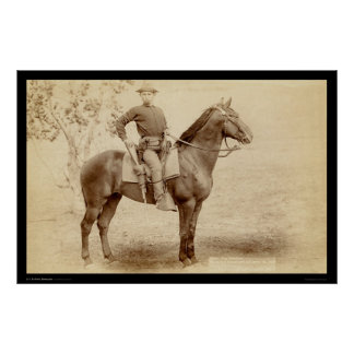 Soldier & Horse at Camp Cheyenne SD 1890 Poster
