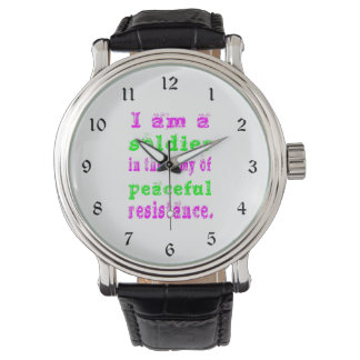 Soldier in Army Peaceful Resistance Watch
