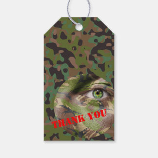 Soldier Joe GI Camouflage Party Gift Tags