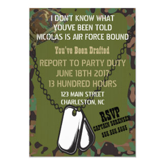 Soldier Joe GI Camouflage Party Invitation