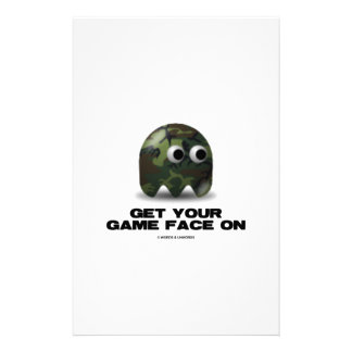 Soldier (Military Camouflage Retro Avatar) Stationery