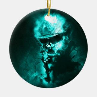 soldier neon ceramic ornament