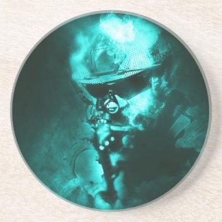 soldier neon drink coaster