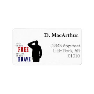 Soldier Salute Address Labels
