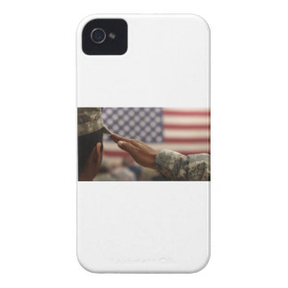Soldier Salutes The United States Flag iPhone 4 Case-Mate Case