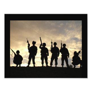 Soldier Silhouettes 11 Cm X 14 Cm Invitation Card