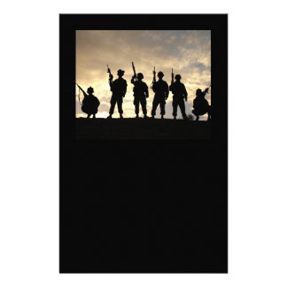 Soldier Silhouettes Stationary Stationery