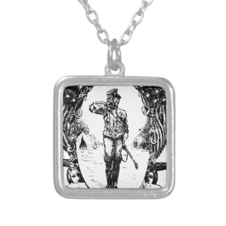 Soldier Silver Plated Necklace