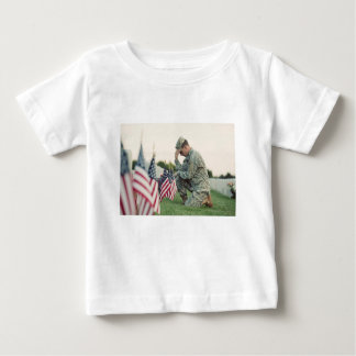 Soldier Visits Graves On Memorial Day Baby T-Shirt