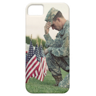 Soldier Visits Graves On Memorial Day Case For The iPhone 5