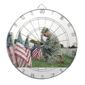 Soldier Visits Graves On Memorial Day Dartboard