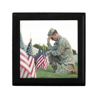 Soldier Visits Graves On Memorial Day Gift Box