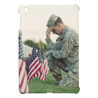 Soldier Visits Graves On Memorial Day iPad Mini Cover