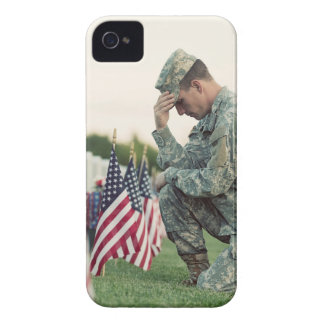 Soldier Visits Graves On Memorial Day iPhone 4 Covers
