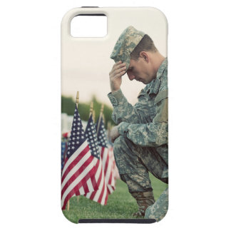 Soldier Visits Graves On Memorial Day iPhone 5 Cover