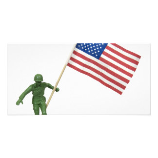 SoldierAmericanFlag072509 Photo Card Template