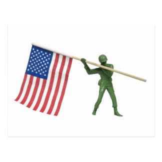 SoldierAmericanFlag1072509 Postcard