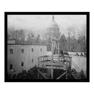 Soldiers and Hangman near the US Capitol 1865 Poster