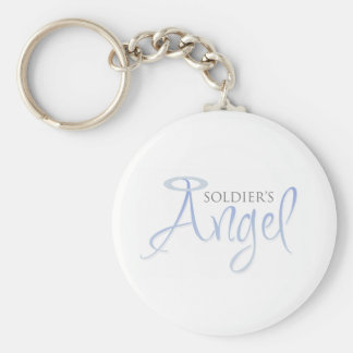 Soldier's Angel Basic Round Button Key Ring