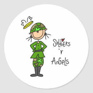 Soldiers Are Angels Classic Round Sticker
