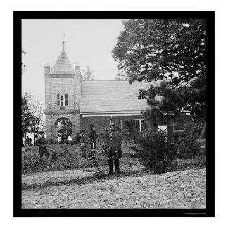 Soldiers at St. Peter's Church in Virginia 1865 Poster
