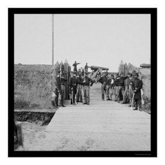 Soldiers at the Gate of Fort Slemmer 1865 Posters
