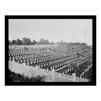 Soldiers' Cemetary in Alexandria, VA 1865 Poster