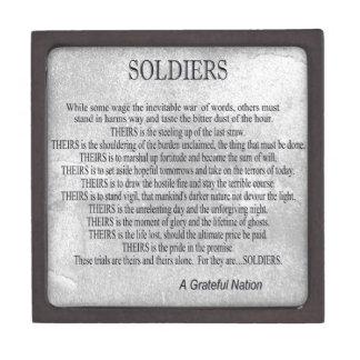 Soldiers Creed Premium Keepsake Box
