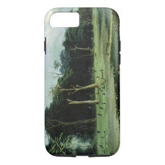 Soldiers Cutting Branches by a River (oil on canva iPhone 7 Case