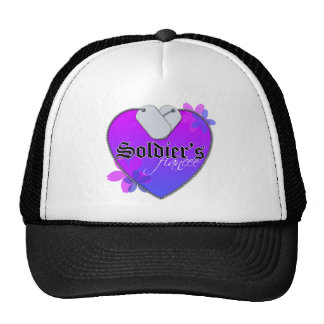 Soldier's Fiancee Heart Shaped Military Dog Tags Cap