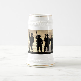 Soldiers in Silhouette Military Stein Beer Steins