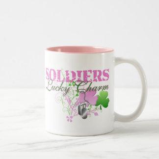 Soldiers Lucky Charm Two-Tone Coffee Mug
